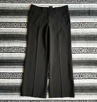 The Limited Cassidy Fit Sz 6 Short Mid Rise Wide Leg Dress Career Pants Black