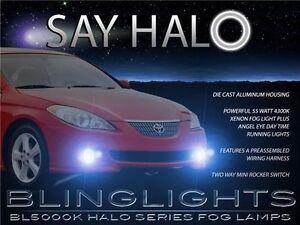 2004 2005 2006 Toyota Solara Halo Fog Lamp Angel Eye Driving Light Kit + Harness