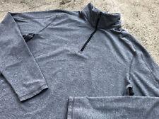 Lululemon Men's Surge Warm Large Grey 1/2 Zip Long Sleeve Shirt Run