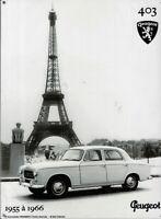 PLAQUE METAL vintage PEUGEOT 403 TOUR EIFFEL - 40 x 30 cm