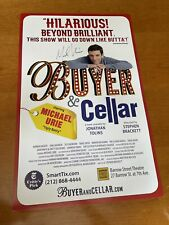 MICHAEL URIE Buyer & Cellar OFF-BROADWAY Signed WINDOW CARD Poster! AUTOGRAPHED
