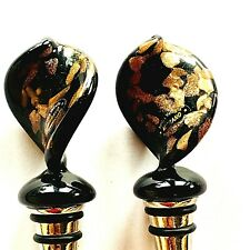 Vintage Pair Murano Blown Glass Art Decorative Wine Stopper, from Italy