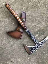 Custom Handmade Tomahawk Viking Hatchet Beared Camping Tactical Axe