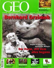 GEO Magazin, Ausgabe April 4/2008: Bernhard Grzimek  +++ Wie neu +++