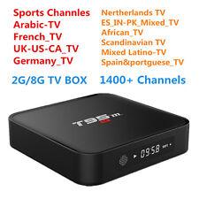 T95M TV Box 2G/8G & 1 Year Arabic EU US IPTV 1400 Live Sports Movies Channels