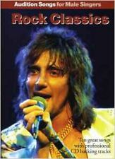 Audition Songs For Male Singers Rock Classics Pvg Book/Cd, Excellent, Various Bo