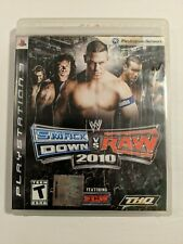WWE Smackdown Vs Raw 2010 (Sony PlayStation 3, 2011) PS3 Complete with Manual
