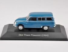 Diecast 1:43 Scale Dkw-VEMAG Blue Car Model VEMAGUET(1964) Vehicle Toys Collect