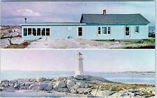 ST MARGARET'S BAY, Canada   LIGHTHOUSE & Lightview TEA ROOM   c1950s   Postcard