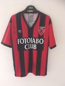Very Rare Neuchatel Xamax Football Shirt 1990/91 Adidas Medium Switzerland