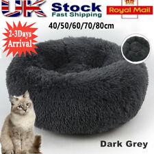 Dog Cat Bed Fluffy Donut Kitten Puppy Pet Cushion Calming Mattress Soft Non-slip