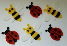 x6 Ladybird and Bee Embellishments. Die cuts
