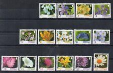 TIMBRES - GUERNESEY - GUERNSEY - FLEURS - FLOWERS - BLUMEN - 2008 et 2009 -