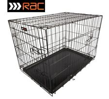 """FOLDING TRAINING CRATE CAGE FOR DOG PUPPY - SMALL MEDIUM LARGE RAC 24"""" 30"""" 36"""""""