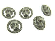 ** 5 x 22 mm PUMA/CHAT GRIS en plastique Boutons à Tige