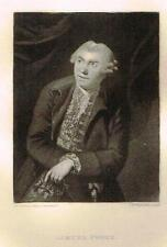 "Mezzotint Engraving Proof - ""SAMUEL FOOTE"" - by Sir Joshua Reynolds - c1820"