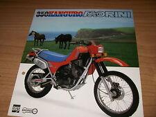 Moto Morini  350 KANGURO  (brochure-depliant -Folded -prospekt)