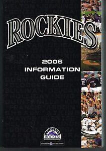 2006 Colorado Rockies Baseball MLB Media GUIDE