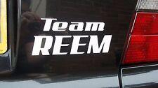 Team Reem Divertente Auto/Laptop Adesivo Vinile Scelta di Colori 16