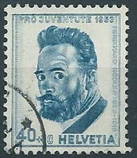 1953 SVIZZERA USATO PRO JUVENTUTE 40+10 CENT - RR13850