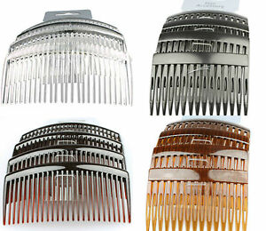 HAIR COMBS HAIR SLIDES 4 PACK OF BLACK CLEAR TORT HAIR COMB PLASTIC