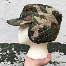 Quicksilver Camo Winter Ear Flaps Hat Small Medium Camoflauge
