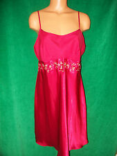 Delicates dark red short gown/chemise sz L Bust 38-39 New w/Tags
