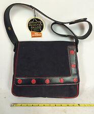NOS Vintage 60s 70s Women's Leather Suede Purse Mid Century Modern Retro Atomic