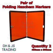 2x Folding Hazchem Marker Boards ADR Reflective HZL / HAL Sign Lorry Truck HGV
