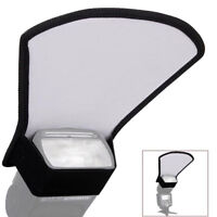 Camera Flash Diffuser Softbox Silver White Reflector For Canon Nikon Speedlite#