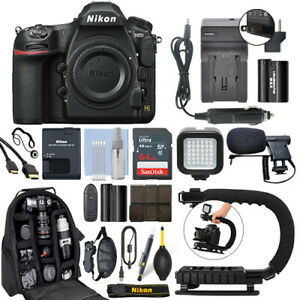 Nikon D850 45.7 MP FX Digital SLR Camera Body + 64GB Pro Video Kit