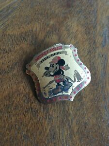 "VINTAGE Early 1930's ""MICKEY MOUSE FIRE DEPT"" BADGE -  EXTREMELY RARE!!!"