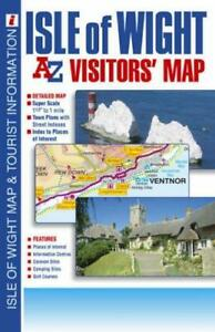 Isle of Wight Visitors' Map, Very Good Condition Book, Geographers' A-Z Map Comp