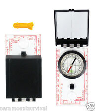 Map Compass W/ Mirror Ruler and Lanyard Perfect for Survival Packs Hiking Camp