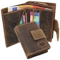 Leder Damen Portemonnaie Geldbörse Geldbeutel Vintage RFID-Schutz Brasil braun