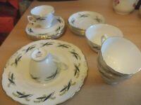 OLD VINTAGE RETRO ROYAL VALE RIDGWAY BONE CHINA TEA SET SERVICE trios CUPS