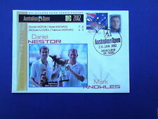 Nestor & Knowles Doubles Win Australian Open With Hewitt P- Stamp 2002 Cover