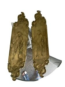 antique brass door plates