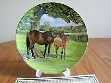 """Collector Plate, Spode, """"English Thoroughbred�, (Noble Horse) S.Whitcombe, 1988"""