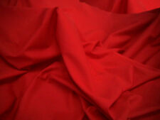 Plain Poly Quality Cotton Fabric Over 30 Colours CHEAPEST UK SELLER Red