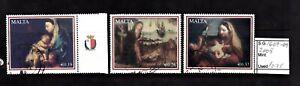 Malta 2008 Christmas issue Nativity Paintings SG 1607-09 Fine Used
