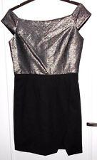 Jolie robe noir et lurex argent idéale soirée NAF NAF T 42 TBE