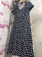 b78d55cc49628a Flattering Joanna Hope Navy Floral Cute Ditsy Fit Flare Midi Dress 14