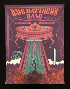 AUTHENTIC Dave Matthews Band Capital One Arena Washington DC Poster STORED FLAT!