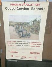 AFFICHE ORIGINALE ANCIENNE AUTOMOBILE COUPE GORDON BENNETT 1985 CLERMONT FERRAND