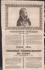 Prédiction Générale pour 1840 Tremblement de Terre Martinique. Alger Flers Laval