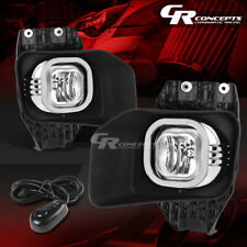 CLEAR LENS DRIVING FOG LIGHT LAMPS+BEZEL+SWITCH LH+RH FOR 11-16 FORD SUPER DUTY