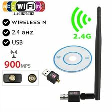 900Mbps USB WiFi Dongle 5/2.4GHz Adapter Antenna Wireless Network For Laptop PC