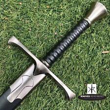 Pommel T5 Medieval Knight Warrior Arming Sword w/ Scabbard-CUSTOM ENGRAVED