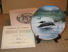 """""""Time To Fly """" Loon Waterfowl #4 Don Li-Leger Collector Plate with Coa"""